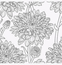 floral seamless hand drawn vector image