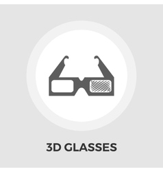 3D Glasses Flat Icon vector