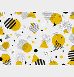 Abstract geometric yellow black colors pattern vector
