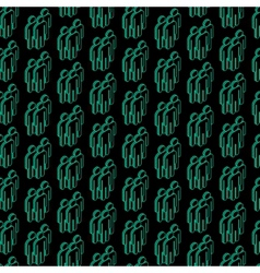 abstract seamless pattern with isometric people vector image