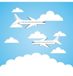 airplane vehicle icon vector image