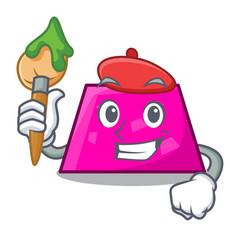 Artist trapezoid character cartoon style vector