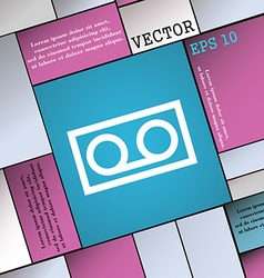 audio cassette icon sign Modern flat style for vector image