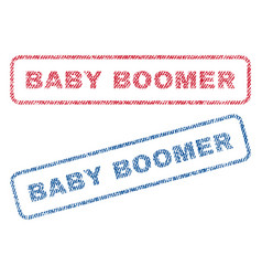 Baby boomer textile stamps vector