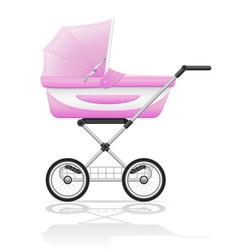 Baby perambulator 01 vector