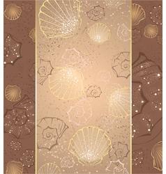 beige seashells vector image vector image