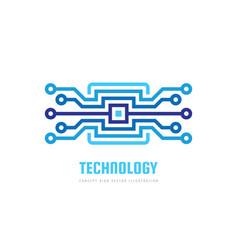 block chain logo template design electronic techn vector image