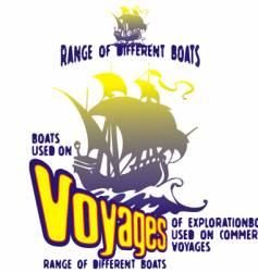 Boats voyage vector
