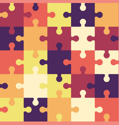 bright puzzle seamless background or pattern vector image
