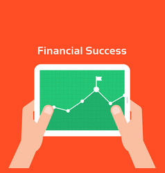 Business charts like financial success vector