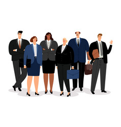 business man and women vector image