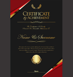certificate or diploma retro template 06 vector image