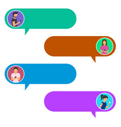 Concept online chat man and woman vector