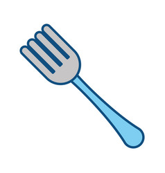 covered fork symbol vector image