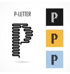 Creative p - letter icon abstract logo design vector
