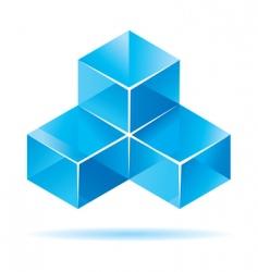 cube design vector image vector image