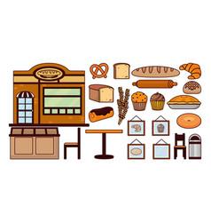Delicious bakery cartoon vector