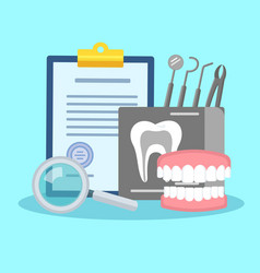 Dental treatment poster vector