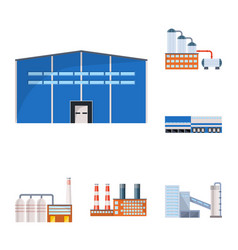 design of industry and building icon vector image
