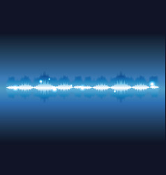 digital music waves vector image