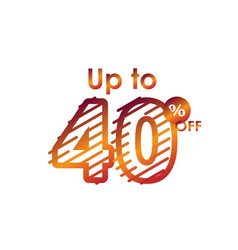 Discount up to 40 off label sale line gradient vector