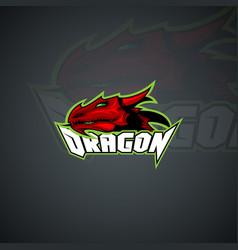 dragon logo template high resolution image vector image