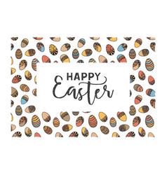 Easter doodle frame vector