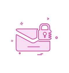 envelope icon design vector image
