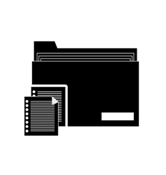 file folder and documents icon vector image