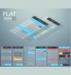 flat ui mobile menu design concept vector image