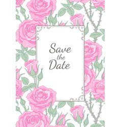 floral frame vintage vector image