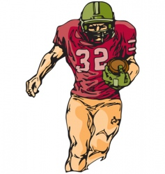 football sketch vector image
