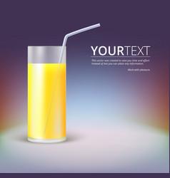 Glass juice vector