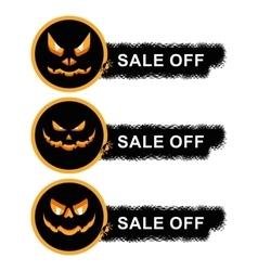 Helloween sale off stickers vector