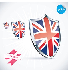 I Love Britain Flag vector