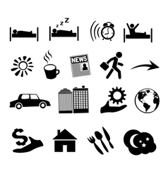 Isolated concept of human life icons vector