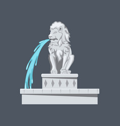 Isolated lion statue stone fontein vector