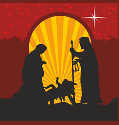 joseph and mary with the child jesus vector image