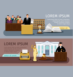 Law and justice banners vector