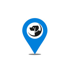 location dog logo icon vector image