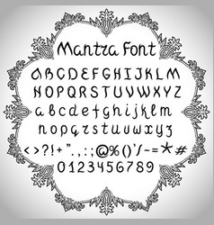 Mantra font vector