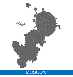 map of city of russia vector image