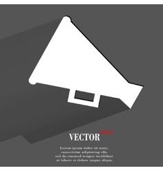 Megaphone Loud-hailer Flat modern web button with vector