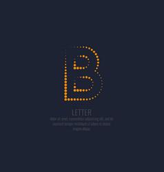modern dotted letter b latin alphabet vector image