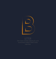 modern dotted letter b of the latin alphabet vector image