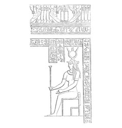 Mural decoration hieroglyphics from the great vector