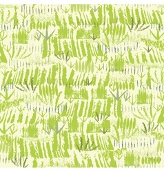 Painting of green grass seamless pattern vector image