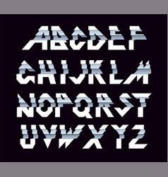 paper alphabet paper folding vector image