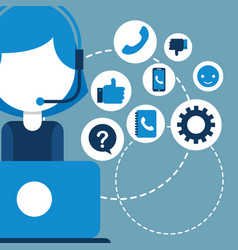People customer service vector
