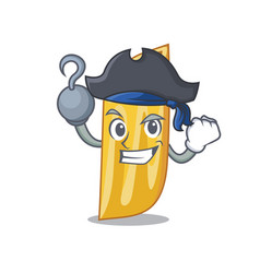 Pirate penne pasta character cartoon vector